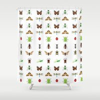 insects Shower Curtains featuring insects by Alysha Dawn