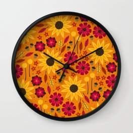Fall is in th Air Wall Clock