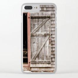Ross Farm door Clear iPhone Case