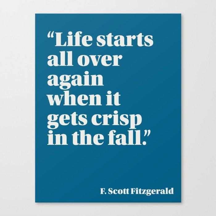 Fitzgerald on Seasons Canvas Print