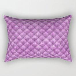 Quilted Purple Velvety Pattern Rectangular Pillow