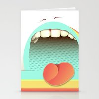 fear Stationery Cards featuring Fear by Laima St