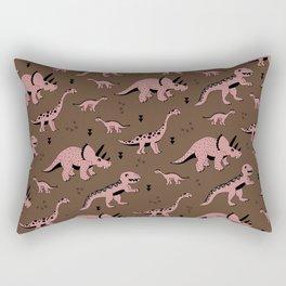 Cool girls dino love ceatures dinosaurs illustration pattern Rectangular Pillow