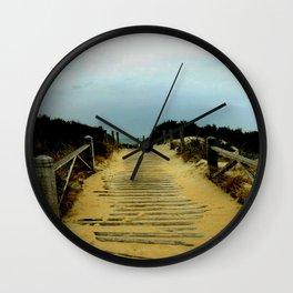 Path to the Beach Wall Clock