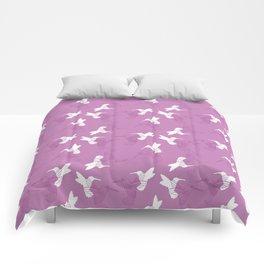 Humming Bird Pink Comforters