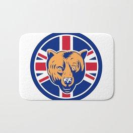 British Bear Union Jack Flag Icon Bath Mat