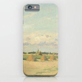 Camille Pissarro - Landscape, Ile-de-France iPhone Case