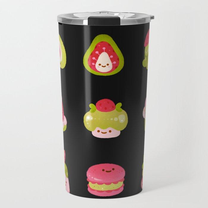 Strawberry Matcha - black Travel Mug