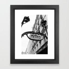 Paris Metro IV Framed Art Print