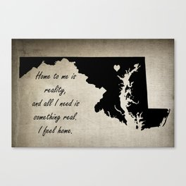 Home - Maryland Canvas Print