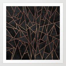 Shattered Black / 2 Art Print