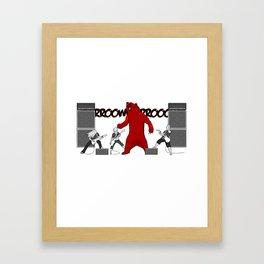 Growly Bear Metal Framed Art Print