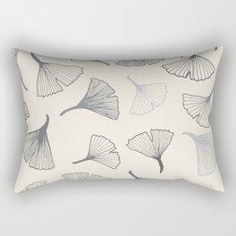 Ginko leaves grey Rectangular Pillow