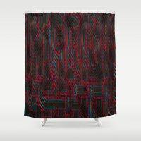 acid Shower Curtains featuring Acid by NaturePrincess