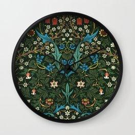 William Morris floral print Wall Clock