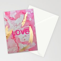 LOVE Abstract Stationery Cards