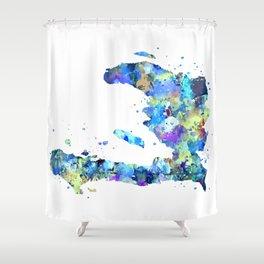 Haiti Map Shower Curtain