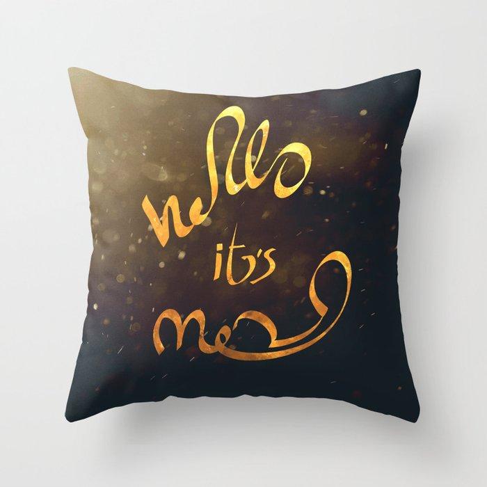 adele hello Throw Pillow
