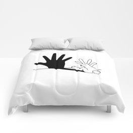 Rabbit Hand Shadow Comforters