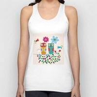 owls Tank Tops featuring owls by Marianna Jagoda