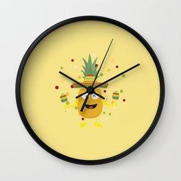 Mexico Pineaplle Fiesta T-Shirt Deffl Wall Clock