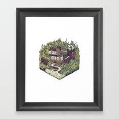 Squared Landscape II Framed Art Print