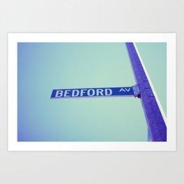 Bedford Ave Art Print