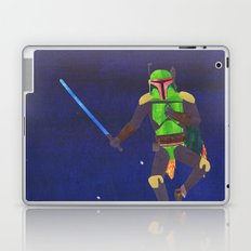Boba Fett with a Lightsaber Collage Laptop & iPad Skin