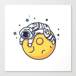 Lazy Astronaut Canvas Print