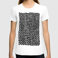 lawyer T-shirts featuring Hand Knitted Black S by Project M