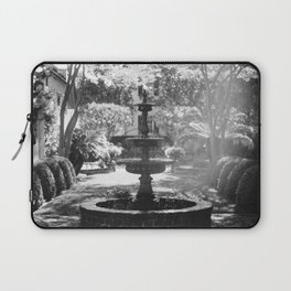 Charleston Black and White Fountain Laptop Sleeve