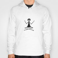 yoga Hoodies featuring Yoga by flapper doodle