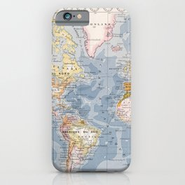 Vintage Map of The World (1900) iPhone Case