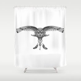 The owl is dreaming Shower Curtain