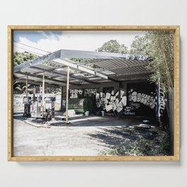 Abandoned Gas Station. Sydney. Australia. Serving Tray