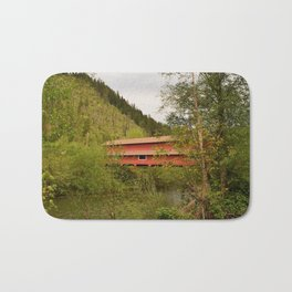 Office Covered Bridge - Westfir, Oregon Bath Mat