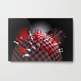 do you like chess Metal Print