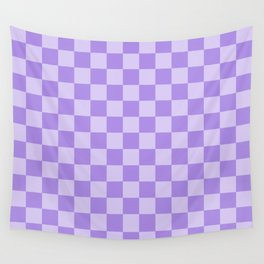 Lavender Check Wall Tapestry