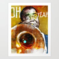 louis armstrong Art Prints featuring Louis Armstrong by Ed Pires