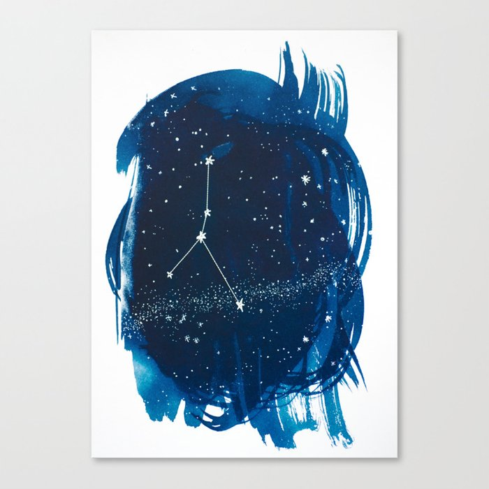 Cancer Zodiac Print Canvas Print