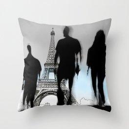 Les Parisiennes Throw Pillow