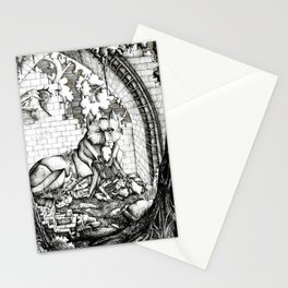 Lovers in the ruins Stationery Cards