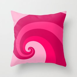 pink wave Throw Pillow