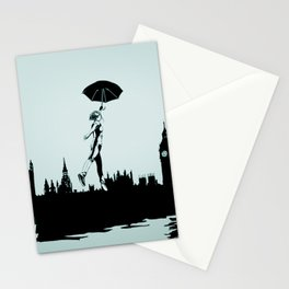 Crossing the Thames Stationery Cards