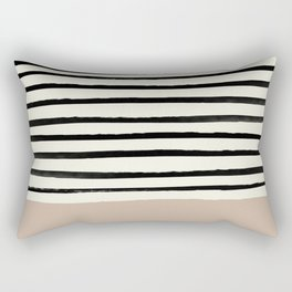 Latte & Stripes Rectangular Pillow