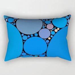 ariana redux: bright royal blue abstract ocean Rectangular Pillow