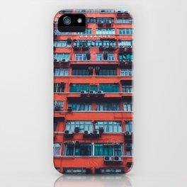 Red HongKong iPhone Case