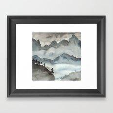 Misty Mountains Framed Art Print