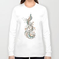 peacock Long Sleeve T-shirts featuring Peacock by Tracie Andrews