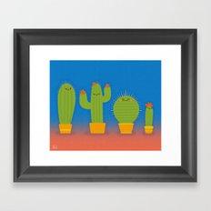 The littlest cactus Framed Art Print